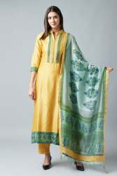 Cotton Unstitched Nayaab Collection Suit, Dry clean