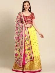 Semi Stitched Arya-3501-Vstry-LH Designer Net Party Wear Lehenga Choli