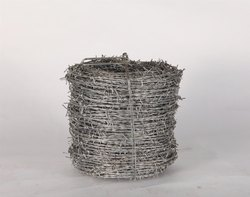 Powder Coated Silver Stainless Steel Barbed Wire, For Fencing