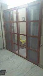 Closet Doors Pristine White Aluminium Sliding Door, For Office, Exterior