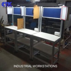 Alluminium Aluminum Industrial Workstation, For Office, Size: 20 Inch