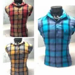 Collar Neck Full Sleeves Check Shirt, Handwash
