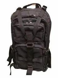 Nylon 1600 Denier Black 55 L Survivor Gear Backpacks Bag, Number Of Compartments: 2