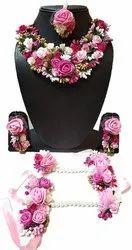 Shivkari Ladies Designer Floral Necklace Set, Box