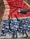 Weaving Work Festive Wear Lichi Silk Designer Saree, 5.5 M (separate Blouse Piece)
