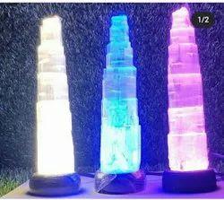 Gemstone_Art LED Selenite Tower Lamp, Mounting Type: Table Top