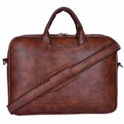 Hard Craft 15.6 inch Vegan Leather Messenger Bag for Men - Laptop Bag -Office Bag - Laptop Sleeve