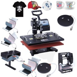Heat Press T-Shirt And Mug Printing Machine, For Commercial