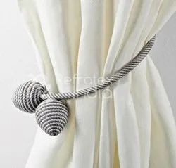 Black And White Magnet Curtain Tieback
