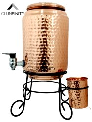 Copper Hammered water tank 5 Ltr, For Home
