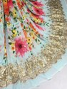 Long Width Georgette Embroidered with Digital Print