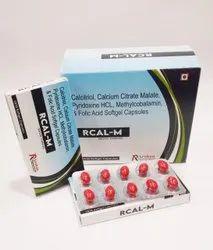 Calcium Citrate Pyridoxine Methylcobalamin And Folic Acid Softgel Capsule