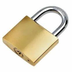 ABS Normal 67 Mm Brass Pad Lock With 3 Keys, Stainless Steel