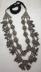 Long Oxidized Necklace