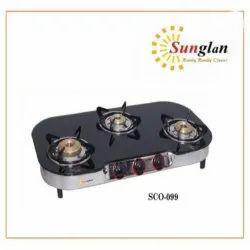 Sunglan SCO-099 Three Burner Gas Stove, For Kitchen