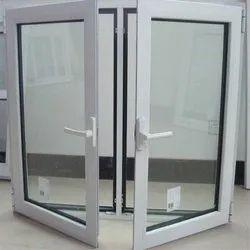 Glossy Silver Aluminium Window