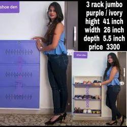 3架紫色巨型鞋架