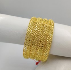 Traditional 4 Pcs Bangles, occasional, Jewellery Type: Gold Forming
