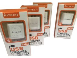 Hitech White 3.4 Amp USB Travel Charger