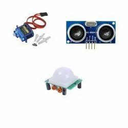 Servo Motor SG90 and Ultrasonic Sensor HSCR04, PIR HSCR501 Sensor
