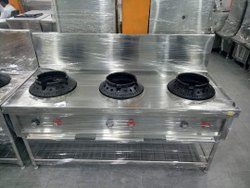 Divine Stainless Steel SS Three Burner Gas Range