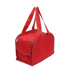 Red Polyester Casual Luggage Duffle Bag, For Travelling