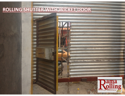 Rolling Shutter With Wicket Door