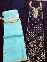 Hand Work Silk Suits With Bottom & Dupatta Work