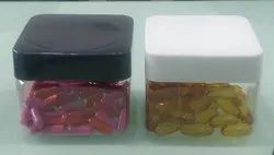 300ML SQUARE WIDE MOUTH CAPSULE JAR