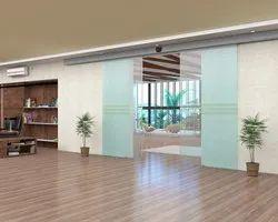Aluminium,Glass Pristine White Autoamtic Sensor Glass Door, Interior