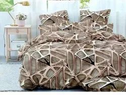 ABC Cotton Queen Size Bed Sheet For Double Bed With 2 Pillow Covers