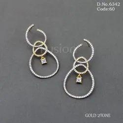 Party Wear American Diamond Earrings