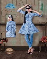 Cotton Casual Wear GIRLS LONG TOP, Size: 24-40