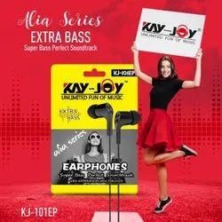 In The Ear Mobile Kay-Joy KJ-101EP Black Wired Earphones