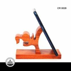 Brown Mount Type Wooden Mobile Stand, Size: Medium, Model Name/Number: CR0028
