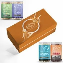Healthy Treat Crave Box,Pack of four Healthy Snack, Diwali Combo Gift Hamper