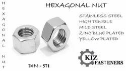 Hex Nut, Size: M2-m30