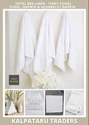 Cotton White Plain Hotel Towels