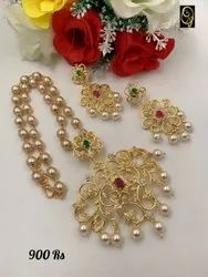 Ad Stone Pendant Necklace