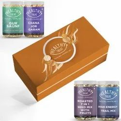 Healthy Treat Wholesome Gift Box , Pack of 4 Healthy Snacks , Diwali Combo Gift Hamper