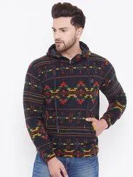 Harbornbay Men Black Printed Sweatshirt