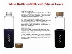 Glass bottle 550ml with silicon cover