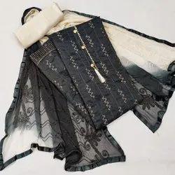 KCS Chanderi Silk Ladies Unstitched Salwar Suits