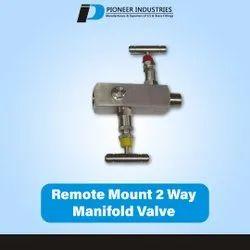 Remote Mount 2 Way Manifold Valve