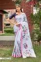 Women Flowery Satin Silk Saree