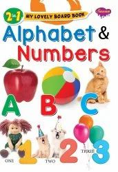 2 in 1 My Lovely Board Book Alphabet and Numbers