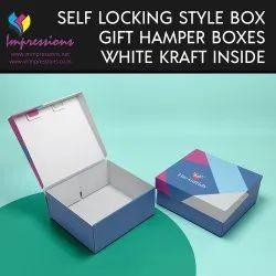 Gift Hamper Boxes With White Kraft Liner