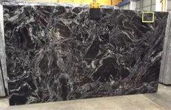 Rajasthan Black Forest Granite Stone, For Flooring, Slab