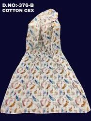 Printed Women ladies cotton cex dupatta