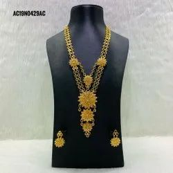 Indian Traditional Gold Plated Bridal Necklace Earrings Jewellery Set